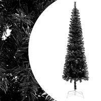 vidaXL Slim Christmas Tree Black 180 cm