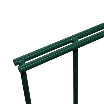 vidaXL 2D Garden Fence Panels 2.008x2.23 m 14 m (Total Length) Green