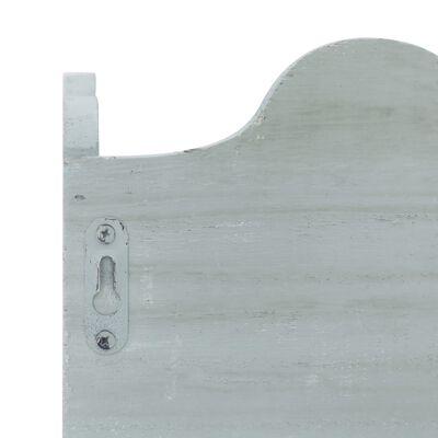 vidaXL Wall Mounted Coat Rack Green 50x10x30 cm Wood