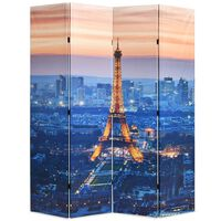 vidaXL Folding Room Divider 160x170 cm Paris by Night