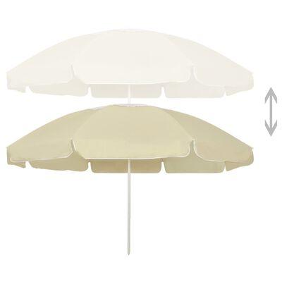 vidaXL Beach Umbrella Sand Yellow 240 cm