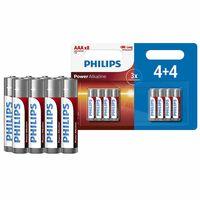 Phillips Power Alkaline Aaa Long Lasting Batteries,8 Pack.