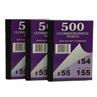 Robinson Young Cloakroom/raffle Tickets X 500 - 1x12