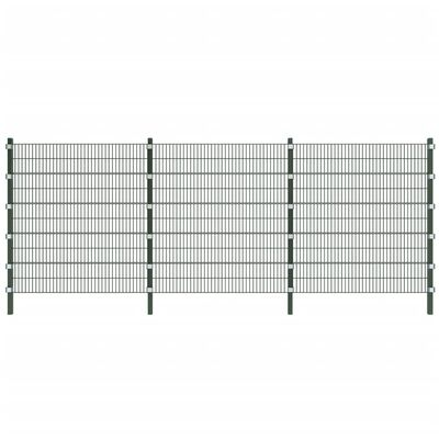 vidaXL Fence Panel with Posts 6x2 m Anthracite Grey