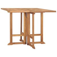 vidaXL Folding Garden Dining Table 90x90x75 cm Solid Teak Wood