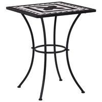 vidaXL Mosaic Bistro Table Black and White 60 cm Ceramic