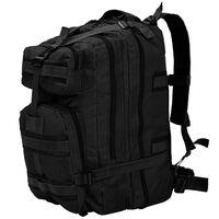 vidaXL Army-Style Backpack 50 L Black