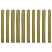 vidaXL Impregnated Fence Slats 10 pcs Wood 100 cm