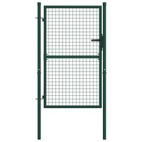 vidaXL Fence Gate Steel 100x125 cm Green