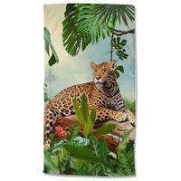 Good Morning Beach Towel JUNGLE 100x180 cm Multicolour