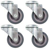 vidaXL 8 pcs Bolt Hole Swivel Casters 50 mm