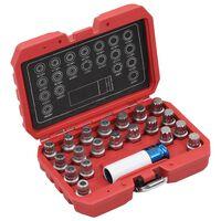 vidaXL 21 Piece Rim Lock Socket Set for BMW