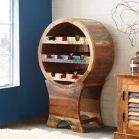 Reclaimed Boat Wine Cabinet 96x31x60cm (HxDxW)