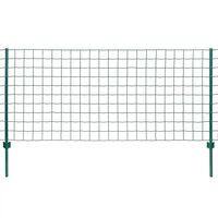 vidaXL Euro Fence Steel 20x0.8 m Green