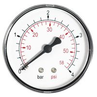 2.5 Bar Pressure Gauge Air Water 1/4 Inch Rear Entry Manometer 63mm
