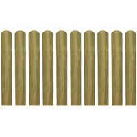 vidaXL 20 pcs Impregnated Fence Slats Wood 60 cm