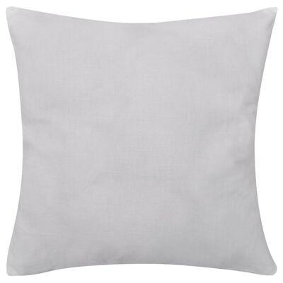 4 White Cushion Covers Cotton 80 x 80 cm