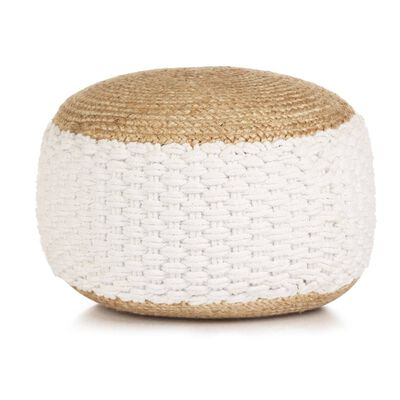 Sit down on the pouffe or put your feet up on it and relax! Our modern and trendy woven/knitted pouffe will make a practical as well as decorative addition to your home decor.