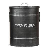 LABEL51 Laundry Box 32x32x43 cm M Antique Black