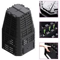 vidaXL Garden Composter Black 93.3x93.3x146 cm 1000 L