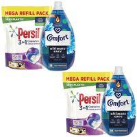 Persil Colour Capsules2x50w & Comfort Fabric Conditioner Freshsky2x58w