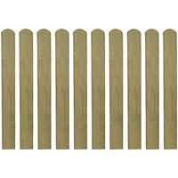 vidaXL Impregnated Fence Slats 10 pcs Wood 80 cm