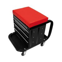 ProPlus Mobile Workshop Roller Seat with Storage 580526
