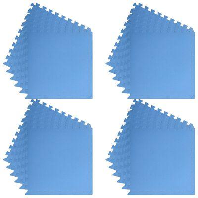 vidaXL Floor Mats 24 pcs 8.64 ㎡ EVA Foam Blue