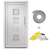 vidaXL Front Door White 98x208 cm