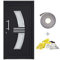 vidaXL Front Door Anthracite 108x208 cm