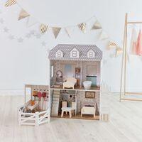 "White Doll House Dreamland 12"" Farm House with Furniture Teamson Kids"