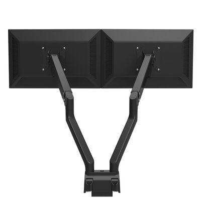 NewStar Full Motion Desk Mount for Two 10-32 Monitor Screens Adjustable 47 cm Black