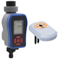 vidaXL Digital Water Timer with Single Outlet and Moisture Sensor