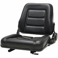 vidaXL Forklift & Tractor Seat with Adjustable Backrest Black