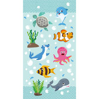 Good Morning Beach Towel SEAWORLD 75x150cm Aqua Blue