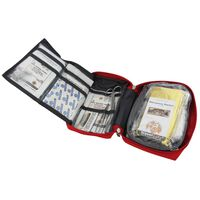Travelsafe 57 Piece First Aid Kit Globe Tour Red