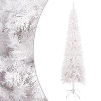 vidaXL Slim Christmas Tree White 120 cm