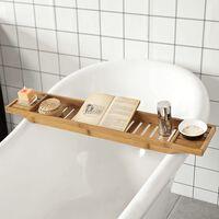 SoBuy Bamboo Bathtub Bridge Soap Dish and Shower Bathtub Rack,FRG212-N