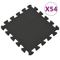 vidaXL Floor Mats 54 pcs 4.86㎡ EVA Foam Black