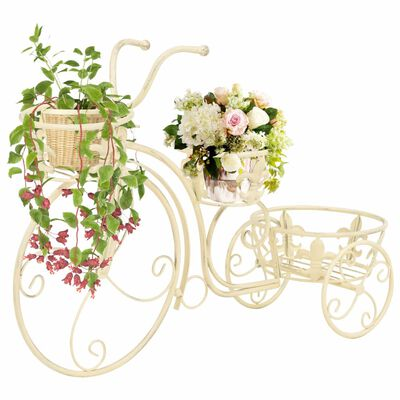 Add a colourful touch to your interior with our antique-look plant stand in the shape of a bicycle.