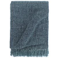 vidaXL Throw Cotton 220x250 cm Indigo Blue