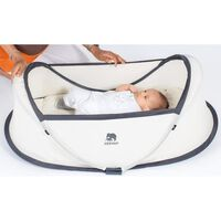 DERYAN Pop-up Travel Cot Infant Baby with Mosquito Net Cream