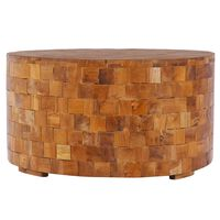 vidaXL Coffee Table 60x60x35 cm Solid Teak Wood