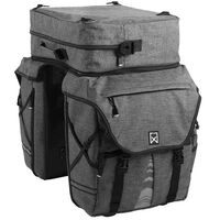 Willex Bicycle Panniers Removable Top XL 1200 65 L Anthracite 13413