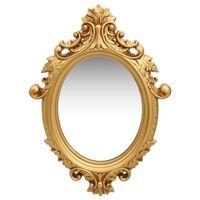 vidaXL Wall Mirror Castle Style 56x76 cm Gold