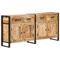 vidaXL Sideboard 172x35x80 cm Solid Mango Wood
