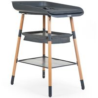 CHILDHOME Changing Table Evolux Anthracite and Natural