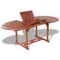 vidaXL Garden Table 200x100x74 cm Solid Acacia Wood