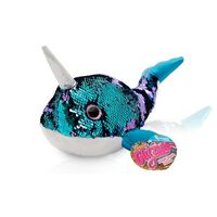 """Doodle Glitzies Narwhal Magic Sequin Plush - 18""""inch Assorted Colors"""