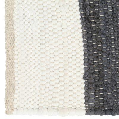 vidaXL Placemats 4 pcs Chindi Stripe Anthracite and White 30x45 cm